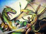 Obras de arte: America : México : Baja_California : Ensenada : Dragón con Piedra