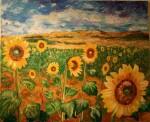 Obras de arte: Europa : España : Extrmadura_Cáceres : Logrosan : girasoles en la tormenta