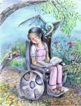 Obras de arte: America : México : Jalisco : zapopan : siesta en el jardin