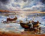 Obras de arte: Europa : España : Madrid : Las_Rozas : Vuelta de la pesca