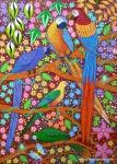 Obras de arte: America : Brasil : Pernambuco : Jaboatao : ARARAS,JANDAIA E PAPAGAIO