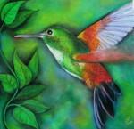 Obras de arte: America : Panamá : Chiriqui : Volcán :  on green