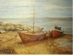 Obras de arte: America : Uruguay : Montevideo : Montevideo_ciudad :  Descanso de pesqueros