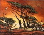 Obras de arte: Europa : España : Madrid : Torrelodones : Atardece en el Serengueti