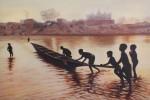 Obras de arte: Europa : España : Madrid : Torrelodones : Jugando en el Río rn Mali