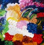 Obras de arte: Europa : Rusia : Perm : Ocher : Linen - flower polyany. Posle of rain.