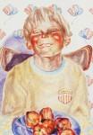 Obras de arte: Europa : Rusia : Perm : Ocher : Rural boy with the apples (self-portrait)