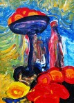 Obras de arte: Europa : Rusia : Perm : Ocher : Still-life with a red bottle