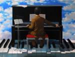 Obras de arte: Europa : Espa�a : Andaluc�a_Sevilla : Sevilla-ciudad : Piano y pianista