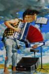 Obras de arte: Europa : Espa�a : Andaluc�a_Sevilla : Sevilla-ciudad : Acorde�n y acordeonista