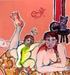 Obras de arte: Europa : Francia : Nord-Pas-de-Calais : LONGUENESSE : Maternité au tapis
