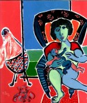 Obras de arte: Europa : Francia : Nord-Pas-de-Calais : LONGUENESSE : Maternité au berceau