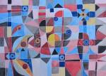 Obras de arte: Europa : Francia : Rhone-Alpes : Lyon : malabarismos - acuarela abstracta
