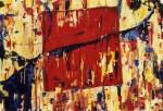 Obras de arte: Europa : Francia : Rhone-Alpes : Lyon : cuadrado rojo