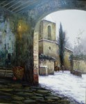 Obras de arte: Europa : España : Catalunya_Girona : St.Privat_de_bas : Nieve en el portal