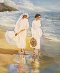 Obras de arte: Europa : España : Galicia_Pontevedra : vigo : Mujeres en la playa