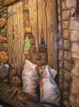 Obras de arte: Europa : España : Andalucía_Sevilla : Alcala_de_guadaira : Puerta con sacos