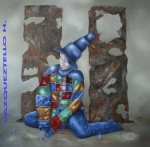 Obras de arte: America : México : Queretaro_de_Arteaga : Queretaro_ciudad : El nacimiento de humo