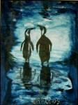 Obras de arte: Europa : Alemania : Niedersachsen : Hemmingen : nochepingüinoazul