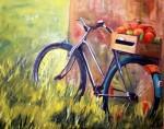 Obras de arte: Europa : Espa�a : Catalunya_Tarragona : Valls : bicicleta amb fruits