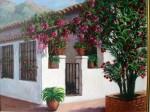Obras de arte: Europa : España : Andalucía_Málaga : Málaga_ciudad : CASA CON BUGANVILLA