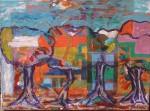 Obras de arte: America : Argentina : Buenos_Aires : palomar : trois arbres