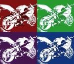 Obras de arte: Europa : España : Catalunya_Barcelona : Barcelona_ciudad : motos-pop