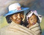 Obras de arte: America : Argentina : Santa_Fe : Rosario : Madre feliz