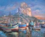 Obras de arte: Europa : Francia : Ile-de-France : PARIS : ROCHER D'IFACH ET PORT DE CALPE colección privada Francia