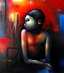 Obras de arte: America : México : Mexico_Distrito-Federal : Xochimilco : niño en azul