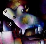 Obras de arte: America : México : Mexico_Distrito-Federal : Xochimilco : rinotauro