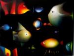 Obras de arte: America : México : Mexico_Distrito-Federal : Xochimilco : peces