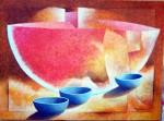 Obras de arte: America : Costa_Rica : Heredia : Heredia_centro : Figuras con paisaje- sandia
