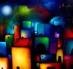 Obras de arte: America : México : Mexico_Distrito-Federal : Xochimilco : geometria nocturna