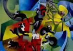 Obras de arte: America : México : Mexico_Distrito-Federal : Tlalpan : Los Gatos Negros llegaron solos