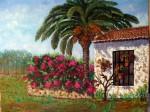 Obras de arte: Europa : España : Andalucía_Málaga : Málaga_ciudad : Palmera y Buganvilla