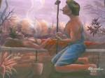 Obras de arte: America : Perú : Amazonas-Peru : Comunidad_de_Puerto_Miguel-_Yarapa : El Curandero - Edward LLerena