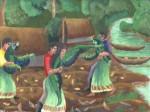 Obras de arte: America : Perú : Amazonas-Peru : Comunidad_de_Puerto_Miguel-_Yarapa : Leyenda de las Mujeres Loras - Manuel Pacaya