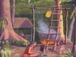 Obras de arte: America : Perú : Amazonas-Peru : Comunidad_de_Puerto_Miguel-_Yarapa : La Espera- Luis Beltran
