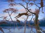Obras de arte: America : Perú : Amazonas-Peru : Comunidad_de_Puerto_Miguel-_Yarapa : Monos- Marvin Curico