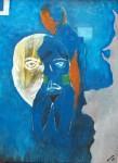 Obras de arte: America : México : Chiapas : Tuxtla : mujer azul