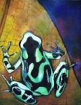 Obras de arte: America : Panamá : Chiriqui : Volcán : solamente verde