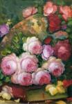 Obras de arte: America : Colombia : Antioquia : guarne : flores rosas