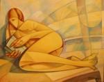 Obras de arte: Europa : España : Andalucía_Málaga : malaga : Lectora en la playa