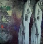 Obras de arte: Europa : España : Andalucía_Jaén : Jaen_ciudad : perfiles sobre la pared