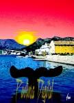 Obras de arte: Europa : Espa�a : Murcia : cartagena : BALLENA en el Puerto de Cartagena