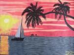 Obras de arte: Europa : España : Catalunya_Tarragona : Reus : Atardecer marino