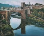 Obras de arte: Europa : España : Catalunya_Girona : La_vall_de_Bas : Puente de Besalu