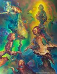 Obras de arte: America : Argentina : Buenos_Aires : Villa_Elisa : Meninas crepuscular