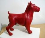 Obras de arte: America : Argentina : Buenos_Aires : BAHIA_BLANCA : perro rojo chico